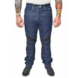 WICKED STOCK Motorcycle Riding Jeans Regular Fit with Remova