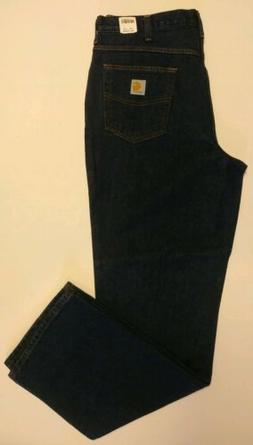 New 36x34 Carhartt Relaxed Fit 100% Cotton Work Jeans 381-83