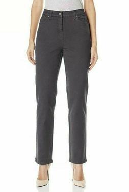 NEW Gloria Vanderbilt Amanda Original Slimming Gray Jeans He