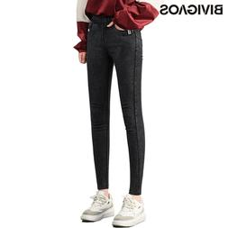 BIVIGAOS New Autumn Winter Women Thick Velvet <font><b>Jeans