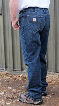 New Jeans Mens Carhartt Holter Relaxed Denim Bedrock Wash Je
