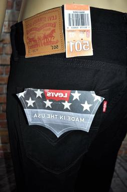 New Levi's 501 Made in USA Original Fit Button Fly Straight