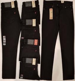 New Levi's 511 Slim Fit Stretch Men's Black Jeans #045114406
