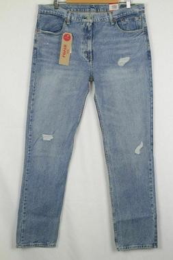New Levi's Jeans Men's 511 Slim Straight 32 x 34 Distressed
