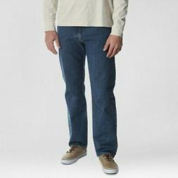 NEW Men's Relaxed Straight Fit Jeans - Dark Denim Wash - Siz