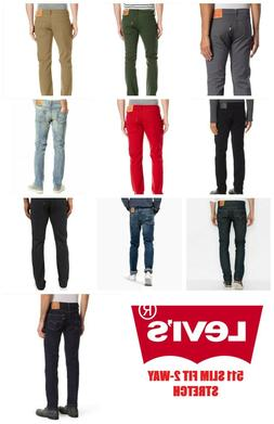 NEW MENS LEVIS 511 SLIM FIT STRETCH  ZIPPER FLY JEANS PANTS