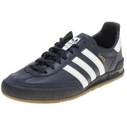New MENS ADIDAS NAVY BLUE JEANS LEATHER Sneakers Retro