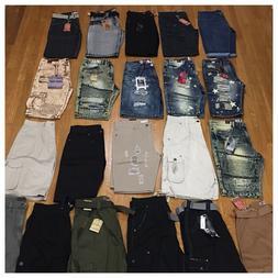 New Mens Size 34 Fashion Denim Shorts Cargo Distressed Rips