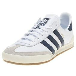 New MENS ADIDAS WHITE JEANS LEATHER Sneakers Retro
