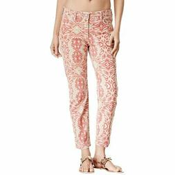 NEW NYDJ Not Your Daughters Jeans Alisha Red Stone Tribal Ti