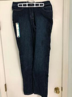 New NWT Lee Relaxed Fit Straight Jeans Auth Nordic 8 Long 8L