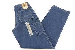 New Carhartt Original Fit Work Dungaree Denim Jeans 33x36 Ca