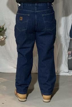 New Carhartt Pants Blue Jeans Denim 100% Cotton Work Pants M