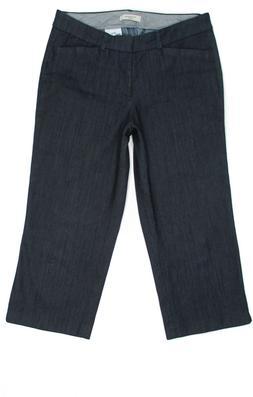 New Dockers Petite Crop Capri Womens Jeans Dark Size 6P 29x2