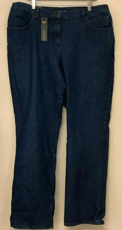 NEW size 18W Lee relaxed fit jeans premium rinse straight le