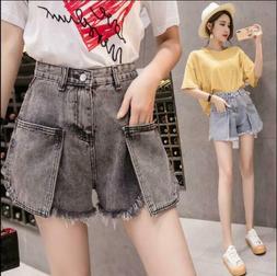 New Summer Women's Denim Shorts Vintage Casual Short Jeans M