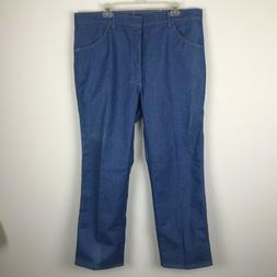 NEW VTG Wrangler Mens Light Denim Blue Jeans Flex Fit Waist