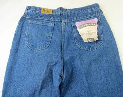 NEW Women's Lee Jeans Relaxed Fit Tapered Stone Wash 100% Co
