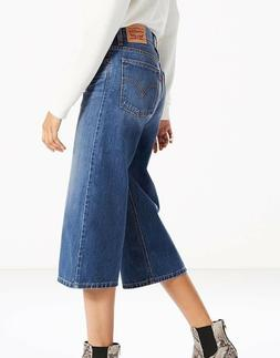 NEW Women's Levi's Culottes Wide Leg High Waist Capri Jeans