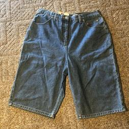 New Faded Glory Women's Relaxed Fit Denim Jeans Shorts Cotto