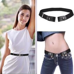 No Buckle Stretch Belt For Women/Men Comfortable Elastic Wai