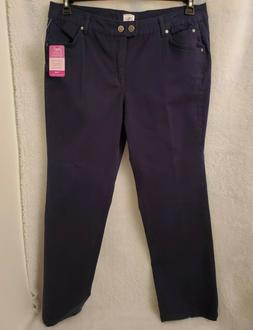 Just My Size NWD Womens Hanes Navy Jeans Pants Size 20W