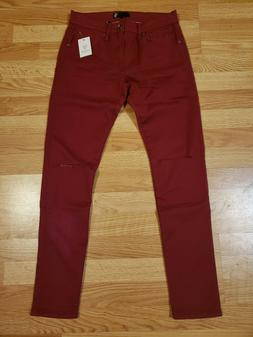 NWT $168 Guess Men's Red Semi Stretch Slim Fit Jeans Pants S
