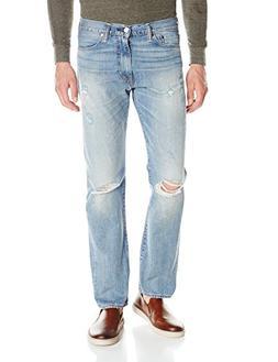NWT Men's Levi's 513 Jeans Mid Rise Slim Straight Jean Destr