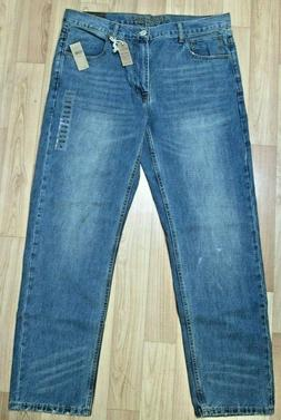 "NWT American Eagle Men""s Medium Wash Tinted Indigo Slim Stra"