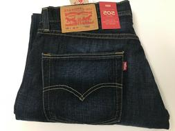 NWT Authentic Levis 505 Regular Straight Blue Jeans Non Stre