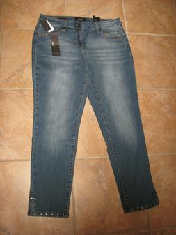 Nwt Earl Jeans Embellished Skinny Ankle Style Jeans Size 12
