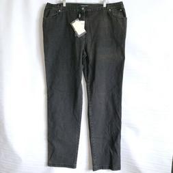 Marina Rinaldi Nwt Jeans Sz 31 22 Womans Gray Slim Leg Long