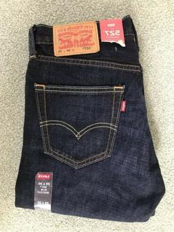 "NWT LEVI'S 527 MEN'S SLIM BOOT CUT ZIP FLY JEANS 29""x30"""