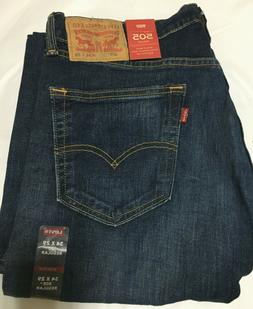 NWT MEN LEVI'S 505 - 1579 REGULAR FIT STRAIGHT LEG STRETCH