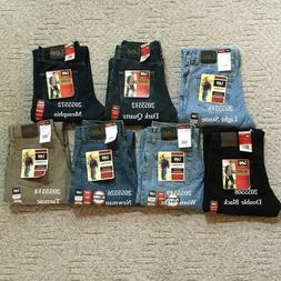 NWT LEE MEN'S RELAXED FIT DENIM JEANS Straight Leg Comfortab