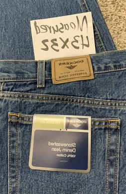 NWT Men's DOCKERS RELAXED FIT JEANS Size 43 X 32 Mens Jeans