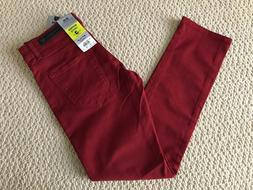 NWT Men's Stylo Skinnier Stretch Dark Red Denim Classic Skin