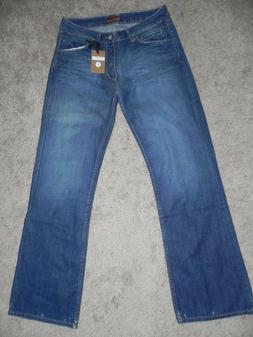 NWT Men's Bruce Straight  Leg Faded  Cotton Blue Jeans sizes