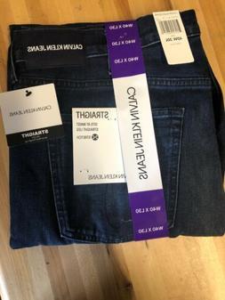 NWT Mens Calvin Klein Blue Straight Leg Stretch Jeans Pants