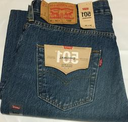 NWT MENS LEVI'S 501 -2487 ORIGINAL BUTTON FLY STRAIGHT BLU