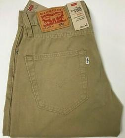 NWT Mens Levis 502 Regular Taper Light Weight Khaki Tan Stre