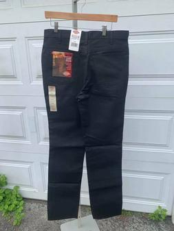 NWT Men's Dickies Twill Jeans 34 X UU Unhemmed Black Free