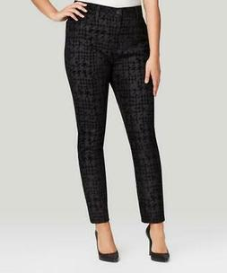 NWT NYDJ Not Your Daughters Jeans Black HOUNDSTOOTH Leggings