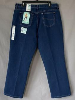 NWT Lee Relaxed Fit At The Waist Straight Leg Jeans 18 Short
