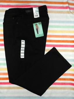 NWT LEE RELAXED FIT STRAIGHT LEG Womens JEANS Black SZ 16W/M