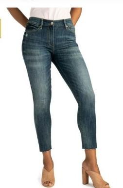 NWT WOMANS LEVIS STRAUSS HIGH RISE ANKLE SKINNY FRAYED EDGES