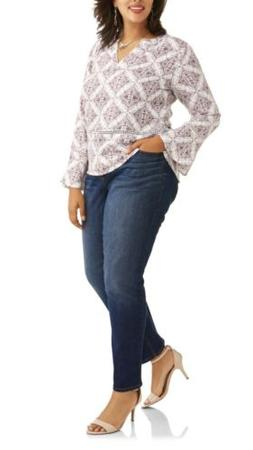 NWT WOMANS PLUS SIZE TERRA & SKY MID RISE SKINNY ANKLE JEANS