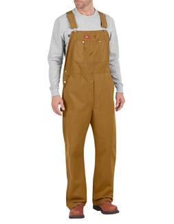 *IMPERFECT-  Dickies Overalls Brown Duck Bib DB100RBD  TOUGH