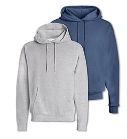 Hanes P170 Mens EcoSmart Hooded Sweatshirt Large 1 Denim Blu