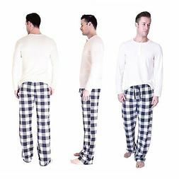 Cherokee Men's 2 Piece Pajama Set, Check Matte, M